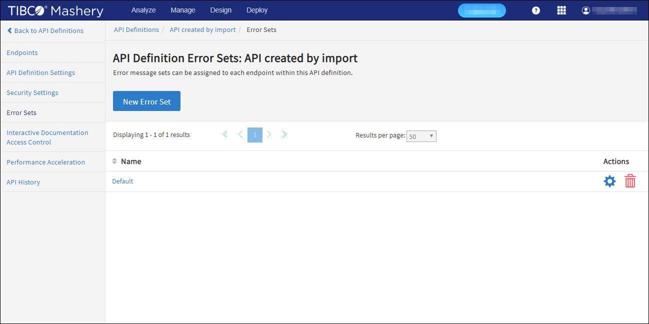 API Definition Error Sets