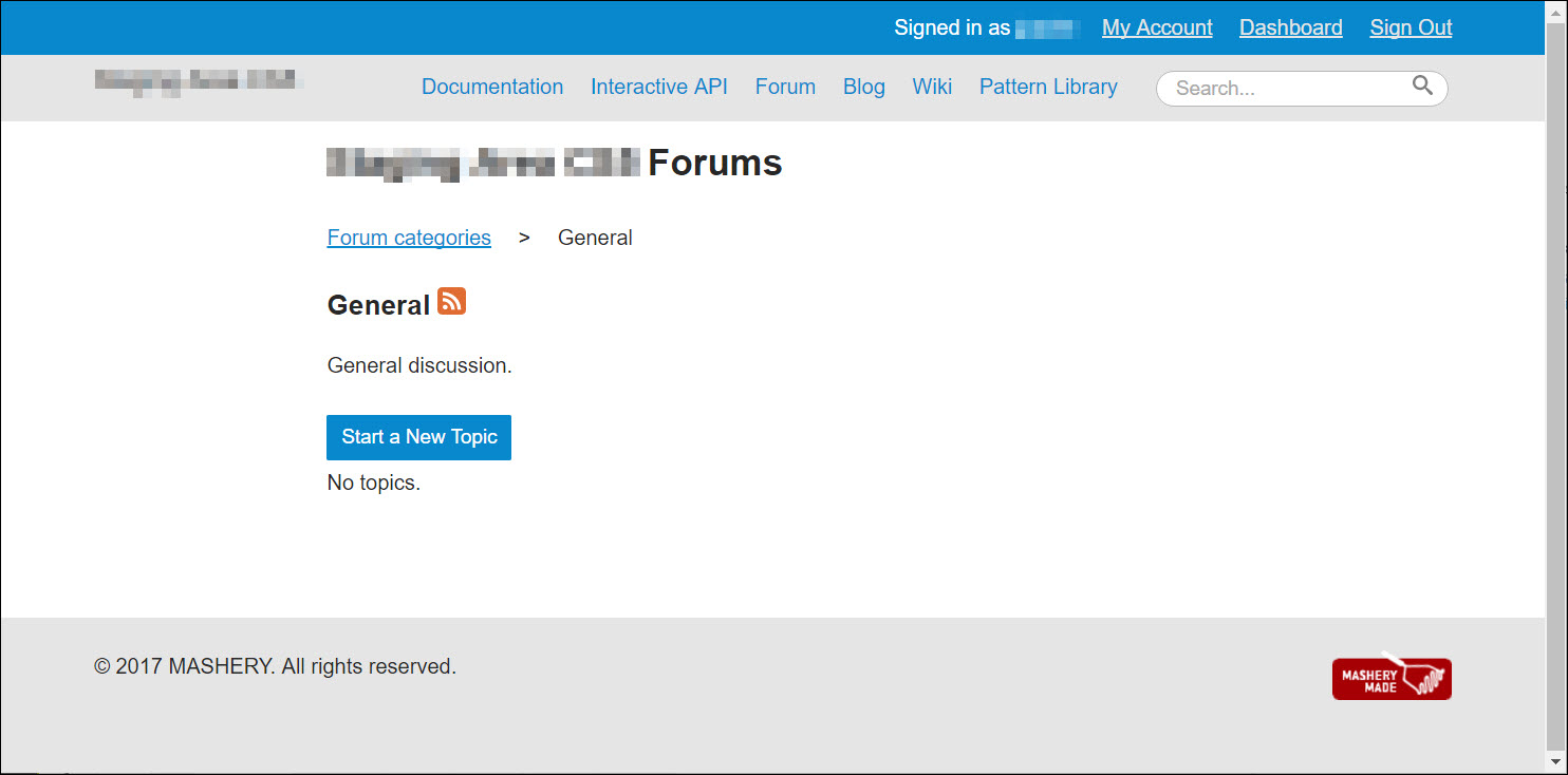 Creating Discussion Forum Category Topics