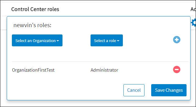 Adding API Control Center Roles
